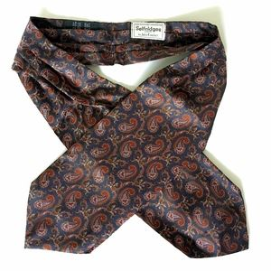 Vintage Paisley Silk Ascot Selfridges London Eng